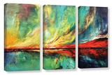 Aurora 3 Piece Gallery Wrapped Canvas Set