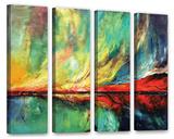 Aurora 4 Piece Gallery Wrapped Canvas Set