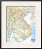 1967 Vietnam  Cambodia  Laos  and Thailand Map
