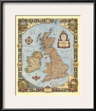 1937 A Modern Pilgrim's Map of the British Isles