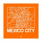 Orange Map of Mexico City