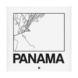 White Map of Panama