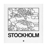 White Map of Stockholm