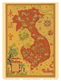 Indochine Francaise - French Indochina - Vietnam, Cambodia, Laos Reproduction d'art par Lucien Boucher