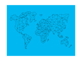 World Map Blue 1