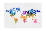 Typography World Map 7