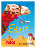 Egypt - TWA (Trans World Airlines) - Egyptian Camels  Pyramid  Sphinx