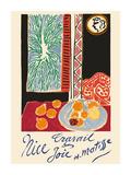 Nice, France - Travail et Joie (Work and Joy) - Still Life with Pomegranates Giclée premium par Henri Matisse