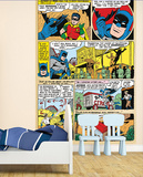 Batman Comic Panels Wall Mural
