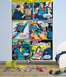 Superman Comic Panels Wall Mural