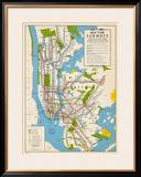 1949  New York Subway Map  New York  United States