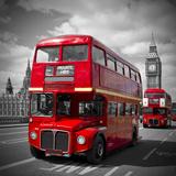 London Red Busses Reproduction d'art par Melanie Viola