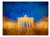 Modern Art Berlin Brandenburg Gate Reproduction d'art par Melanie Viola