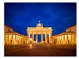 Berlin Brandenburg Gate Before Sunrise Reproduction d'art par Melanie Viola