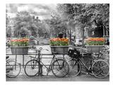Typical Amsterdam - Panoramic View Reproduction d'art par Melanie Viola