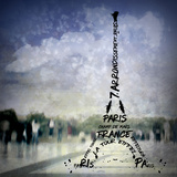 Digital-Art Paris Eiffel Tower No1