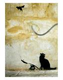 Chat Reproduction d'art par Banksy