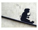 Bubble Girl Reproduction d'art par Banksy