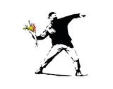 Flower Chucker Reproduction d'art par Banksy