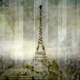 Digital-Art Paris Eiffel Tower - Geometric Mix No1