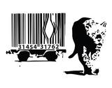 Barcode Reproduction d'art par Banksy