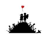 Amour Reproduction d'art par Banksy