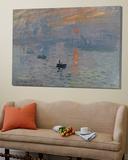 Impression soleil levant, 1872 Toile Murale Géante par Claude Monet