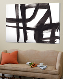 Black and White Abstract Painting 2 Toile Murale Géante par Jaime Derringer