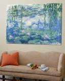 Waterlilies, 1916-19 Toile Murale Géante par Claude Monet