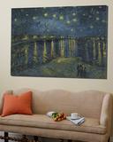 Nuit étoilée sur le Rhône,1888 Toile Murale Géante par Vincent Van Gogh
