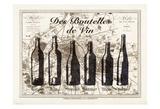 Paris Wine Bottles Reproduction d'art par Tina Carlson