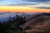 Sunset Flow and Hills at Mount Tamalpais  Marin  Bay Area  California