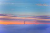 Sutro Tower Above the Fog - San Francisco  Golden Gate Bridge