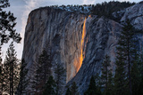 Evening of Fire  Horsetail Falls  Yosemite National Park  Rare Light