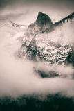 Obscure  Mid Winter Fog and Mood at Yosemite Valley