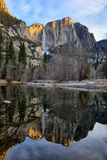 Yosemite Falls In Reflection  Late Winter  Yosemite National Park