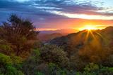 Stormy Morning Sun Star  Oakland Hills  Contra Costra  Mount Diablo  Bay Area