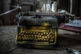 Haunted Interior with Typewriter