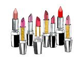 Lipsticks Reproduction d'art par Peach & Gold