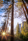 Horsetail Falls and Setting Sun From Within  Yosemite National Park