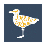 Seagull Silhouette and Lettering