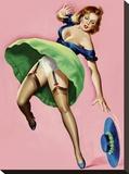 Mid-Century Pin-Ups - Wink Magazine - Strong Wind