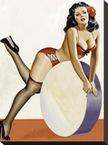 Mid-Century Pin-Ups - Over a drum