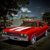 Textured Image of Classic Car in America