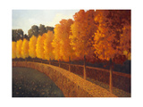 Linden Trees in Autumn