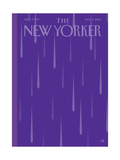 Prince Purple Rain New Yorker Magazine Cover - May 2, 2016 Giclée premium par Bob Staake
