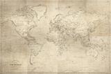 Hamilton's World Map Giclée par Maria Mendez