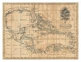 Caraïbes, 1806 Reproduction d'art par Andrew Arrowsmith