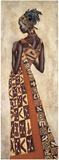 Femme Africaine II Reproduction d'art par Jacques Leconte