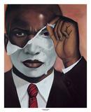 Face Reality – Male Reproduction d'art par Laurie Cooper